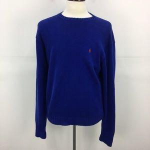 Polo Ralph Lauren Blue Knit Crew Neck Sweater